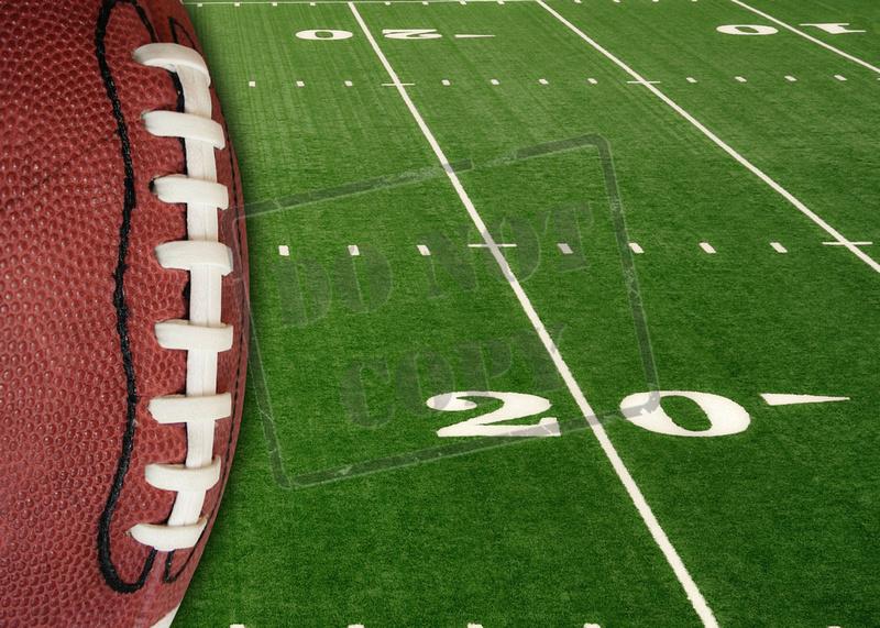Sports  Twenty and Thirty Yard Line on American Football Field